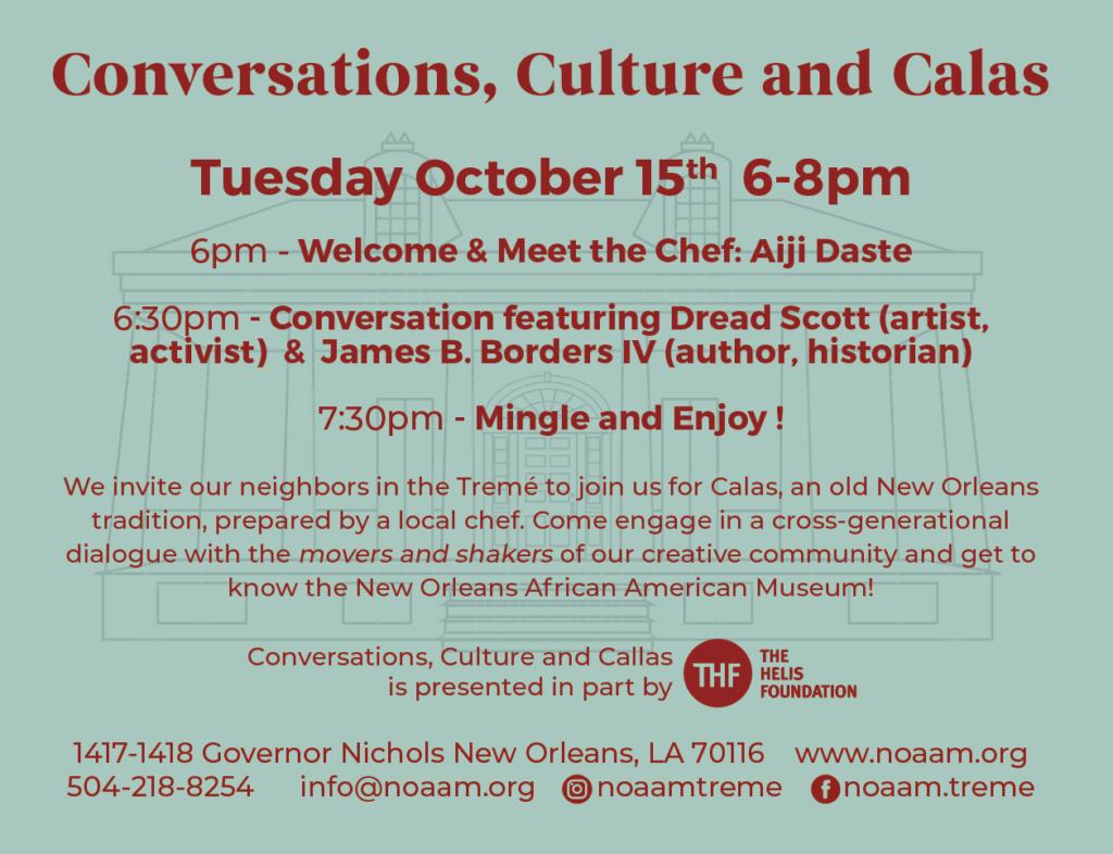 Conversations, Culture and Calas